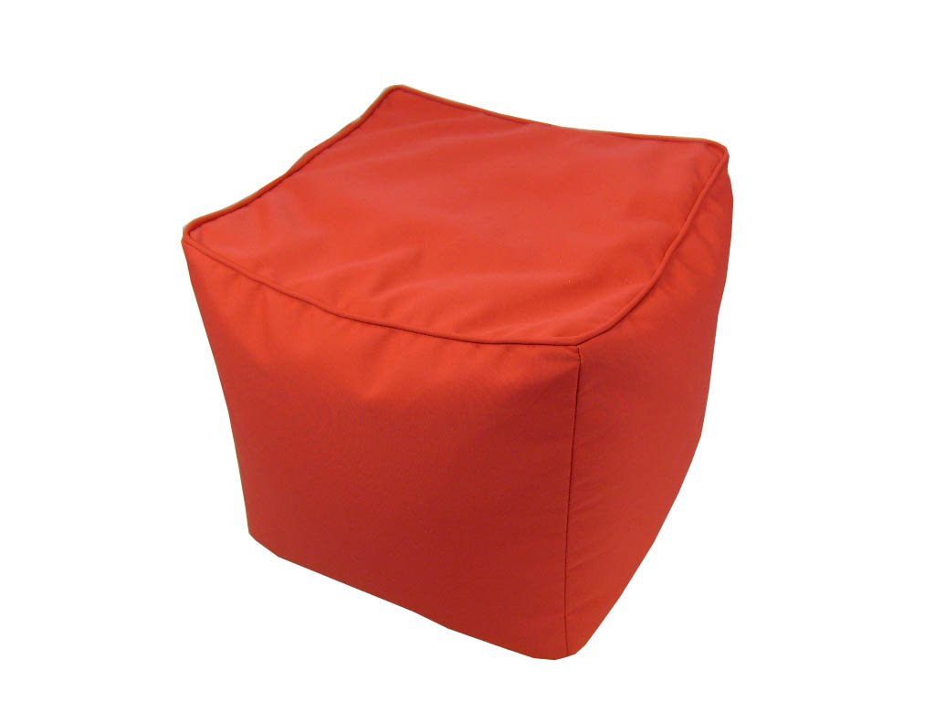 Lava Polyester Storage Ottomans Solid Sunbrella Canvas Logo Red Pouf Indoor/Outdoor Pouf 17 In. 17 X 17 X 17 Inches Red Model # 54130-622