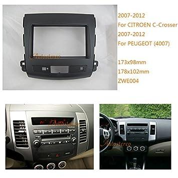 zwnav 2 DIN Radio de coche Panel Kit de montaje para radio de coche fascia Facia marco embellecedor de radio: Amazon.es: Coche y moto