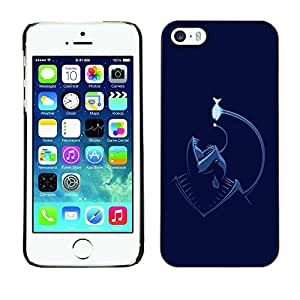 Caucho caso de Shell duro de la cubierta de accesorios de protección BY RAYDREAMMM - Apple iPhone 5 / 5S - Funny Angler Fish Sea Monster