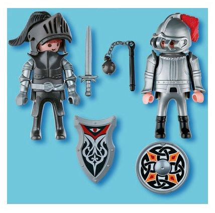 Playmobil - Pack de 2 figuras caballeros de hierro (5886): Amazon.es: Juguetes y juegos