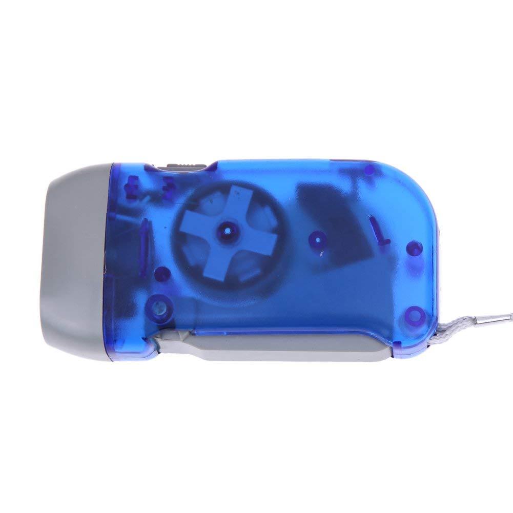 Ogquaton Prensa manual Linterna Bot/ón de la antorcha Bater/ía 3 LED Nuevo Durable y /útil