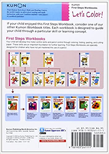 Let's Color! (Kumon First Step Workbooks): Kumon: 9781933241111 ...