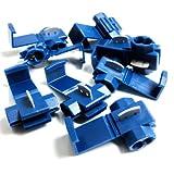 BLUE QUICK SPLICE SCOTCH LOCK WIRE CONNECTORS ELECTRICAL CABLE JOINTS AUTO QS2 (10)
