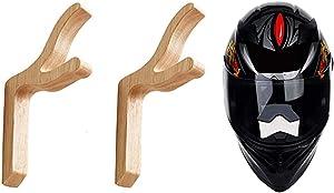 Motorcycle Helmet Accessories, Helmet Stand, Motorcycle Helmet Holder, Jacket Hanger, Helmet Hook - Helmet Rack Wall Mount Display & Storage Rack with Mounting Screws - No Helmet, Style B, 2-Pcs