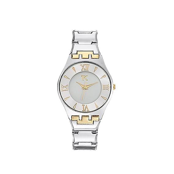 Reloj Mujer Trendy Kiss Ladonas con Pulsera Acero oro Amarillo y Plata TMG10053-31: Amazon.es: Relojes