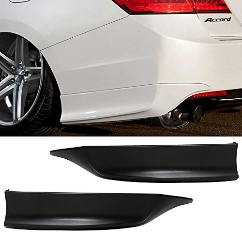 Rear Bumper Lip Fits 2013-2015 Honda Accord | HFP Style Black PU Rear Lip Finisher Under Chin Spoiler Underspoiler Splitter Valance Underbody Bumper Fascia Add On by IKON MOTORSPORTS | 2014