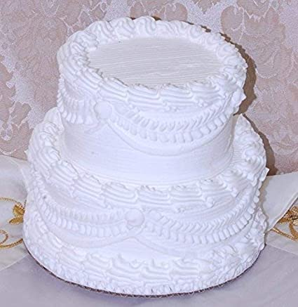Amazon Com Flora Cal Products 7 2 Tier Stacked Fake Wedding Cake