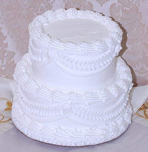Amazon Flora Cal Products 7 2 Tier Stacked Fake Wedding Cake Food Home Kitchen
