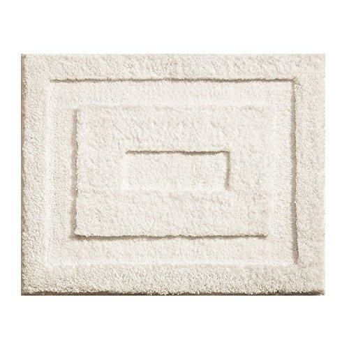 (InterDesign Microfiber Spa Bathroom Accent Rug, 21 x 17, Natural)
