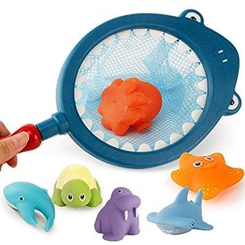 4Pcs Baby Soft Plastic Floating Bath Tub Swimming Play Toys Ocean Animals
