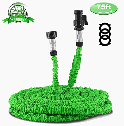 Waterpal Garden Hose 75ft Expandable Water Triple Layer Latex Core, Stamped Aluminum Joints & Extra Strength Fabric Car Wash Use, Green by Waterpal (Image #7)