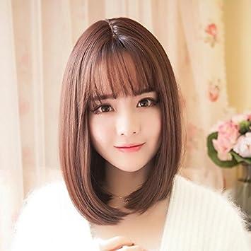 Amazon Com Air Bangs Wig Women Girls Female Short Hair