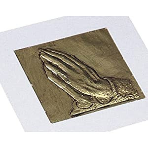 Praying Hands Raised Foil Plaque Craft Kit (Makes 53) by S&S