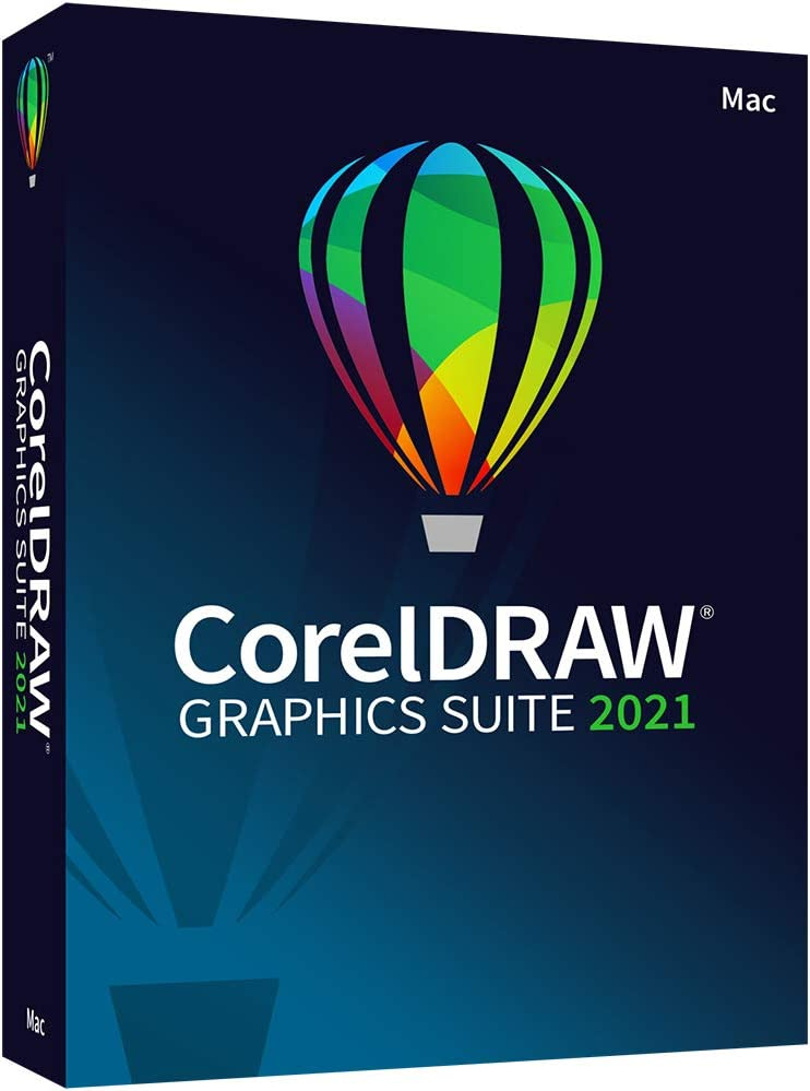CorelDRAW Graphics Suite 2021 | Graphic Design Software for Professionals | Vector Illustration, Layout, and Image Editing [MacKey Card]