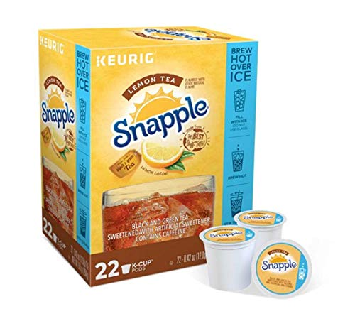 Keurig Tea and Ice Tea Pods K-Cups 18/22 / 24 Count Capsules ALL BRANDS/FLAVORS (Twinings/Chai/Celestial/Lipton/Tazo/Diet Snapple) (22 Pods Lemon Iced Tea) -  Globalpixels
