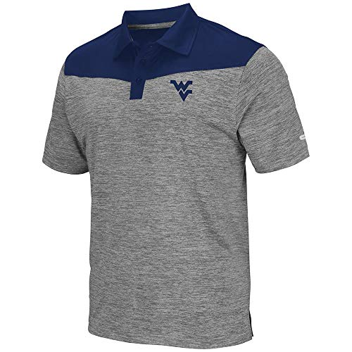 (Mens WVU West Virginia Mountaineers Polo Shirt - L)