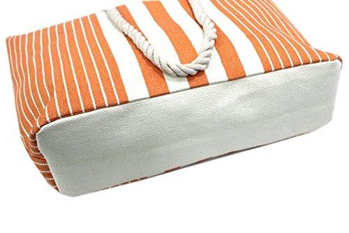 Borsa mare Armata di mare l.righe mod.shopping a spalla b526 arancio