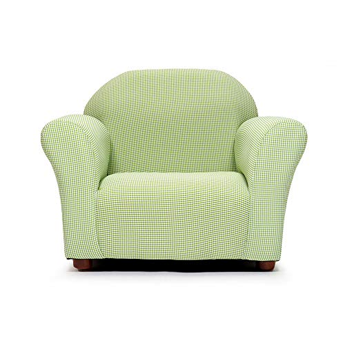 (KEET Roundy Kid's Chair Gingham, Green)