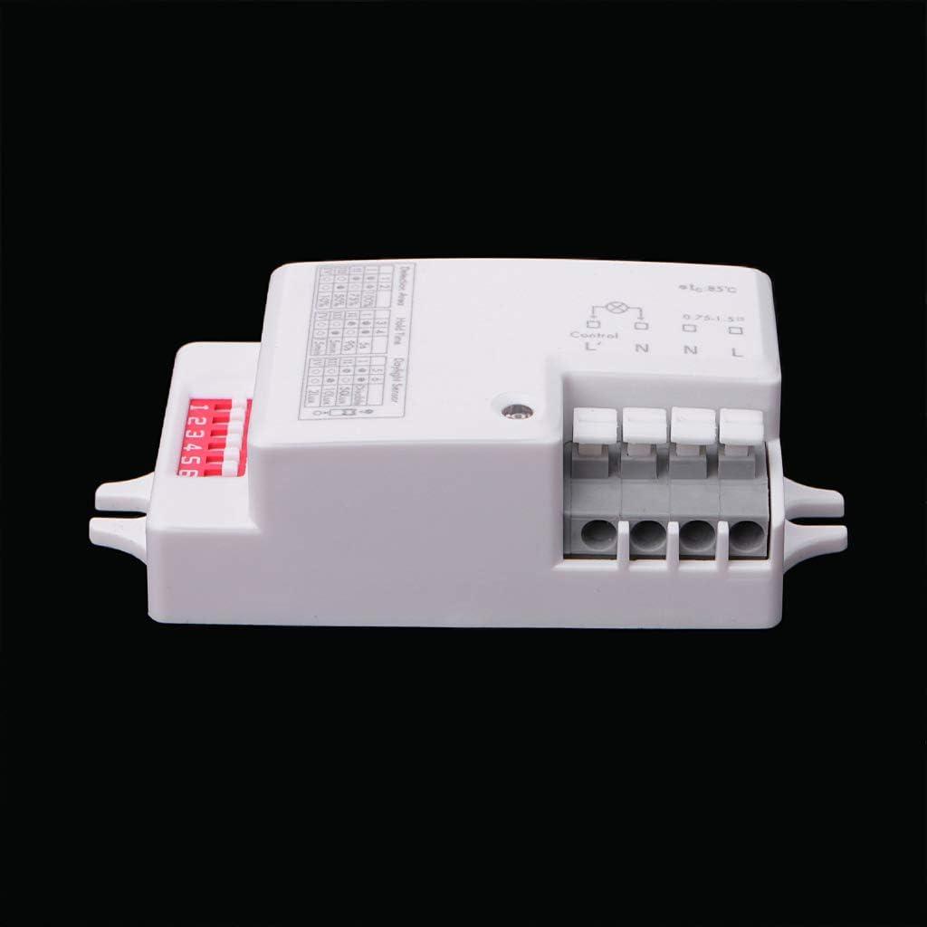 JENOR AC 220V-240V//50Hz Microwave Radar Sensor Body Motion Detector for LED Light