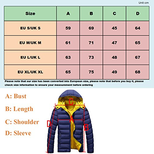 Warm Jacket Coat for Red Camping Hooded Padded Hiking Puffa Men's Down Jacket Jacket Urban tCwF5F
