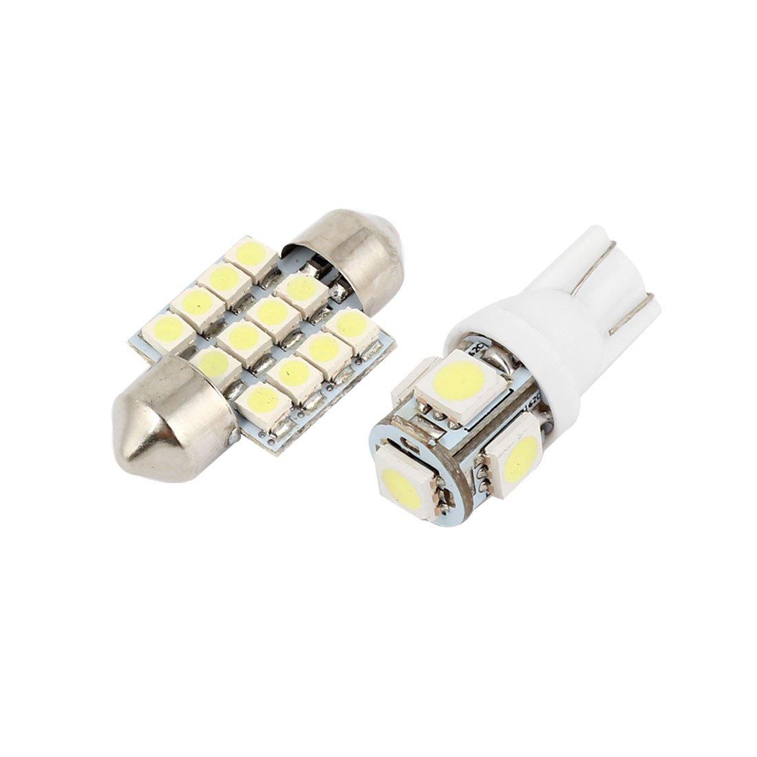 7/x T10//–/5-5050/+ 8/x 31/mm-12//–/3528 Zantec 15PCS bianco LED luci di lampade interno cupola mappa lampada kit per Toyota RAV4/2006/ /2012/