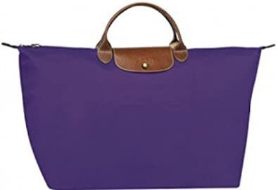 47168079556 Image Unavailable. Image not available for. Color  Longchamp Le Pliage 18  Travel Large Tote Bag, Purple