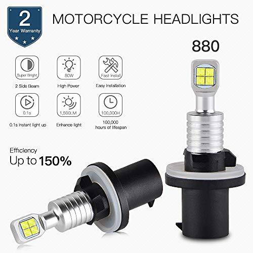 Star-Trade-Inc - ATV 80W LED Headlight Bulbs For ARCTIC CAT 250 300 375 400 450 500 550 650 4X4 SNO PRO 500 600