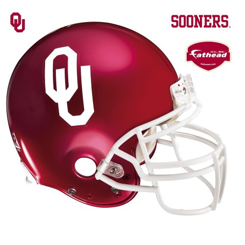 Fathead Oklahoma Sooners Helmet Wall Decal