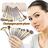 Lospu HY 12 Pieces White Cream-colored Case Bag Makeup Brush Set Premium ...