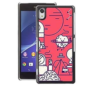 A-type Arte & diseño plástico duro Fundas Cover Cubre Hard Case Cover para Sony Xperia Z2 (Happy Biology Scientist Lab)