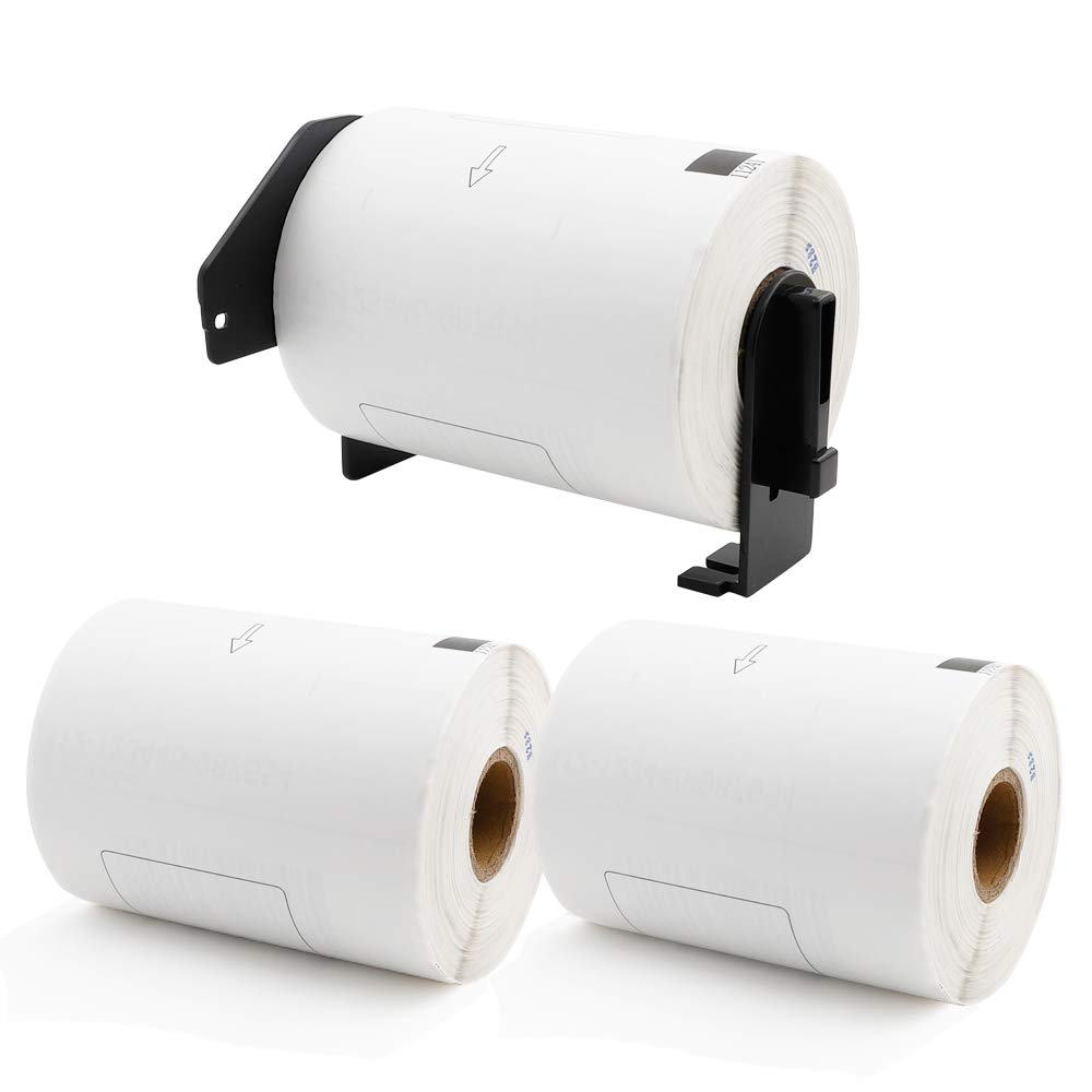 Label KINGDOM 3 Roll Replace for Brother DK-1241 Labels 4'' x 6''(102 mm x 151 mm) 200 Labels 1 Roll, Die-Cut Large Shipping White Paper Labels Compatible QL Label Printer (1 Reusable Cartridge)