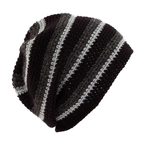 unique Gorro Pom punto negro Negro de hombre para Pom Taille vqqwxB7H
