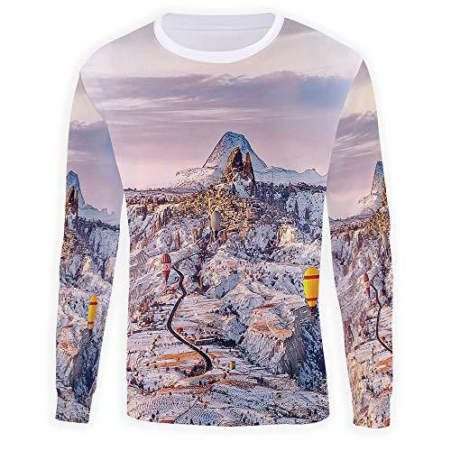 (iPrint Hoodies for Men,Winter,Long Sleeve Zipper Pockets Hooded Sweatshirt)