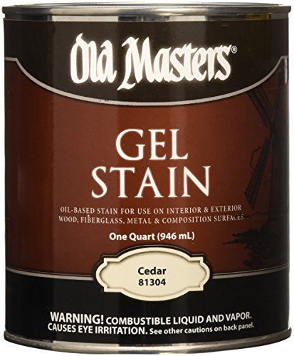 Old Masters 24982 81304 Gel Stain, Cedar, 1 Quart ()