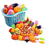 high end kitchens Lingxuinfo 40 Piece Kitchen Cooking Set Girls Boys Fruit Vegetable Tea Playset Toy for Kids Pretend and Play Game Early Educational Toy