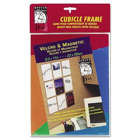 velcro magnetic cubicle photo document frame acrylic 8 12 x 11 - Document Frames 85 X 11