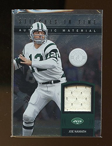 Namath Jersey (2012 Totally Certified Stitches in Time Prime #25 Joe Namath Jersey Jets)
