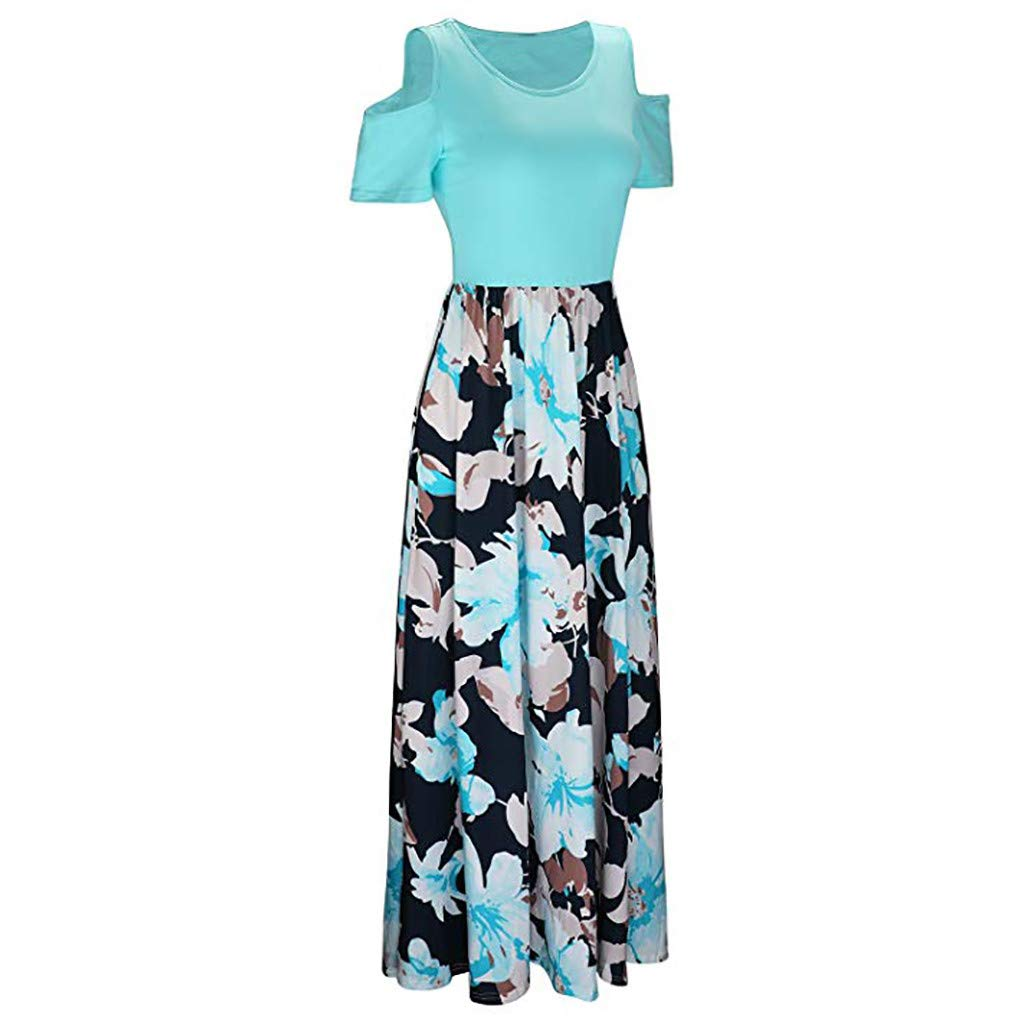 a993e6fb5 Women Dresses for Special Occasion,Teen Girls Short Sleeve Cold Shoulder  Casual Maxi Dresses Long