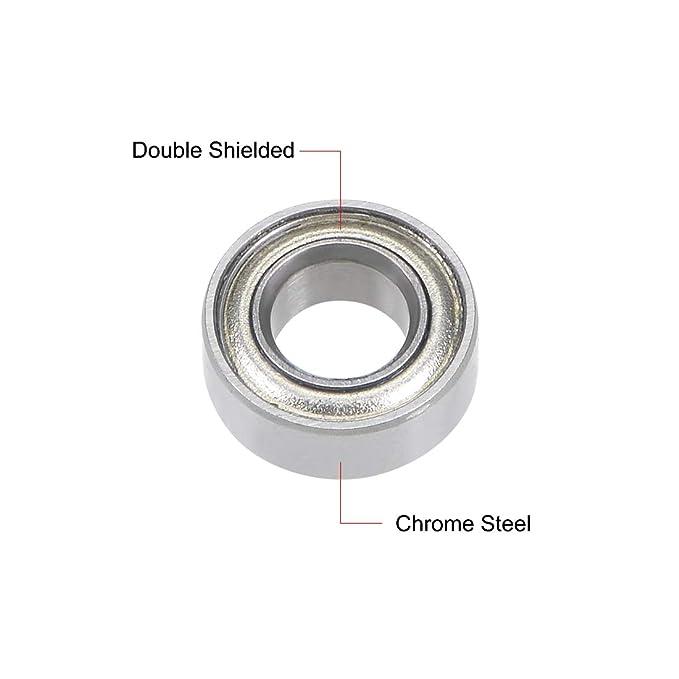 MR62ZZ( 262.5 ) Liukouu 10pcs MR Type Double-Sided Sealing Ball Bearings Deep Groove Steel Bearings