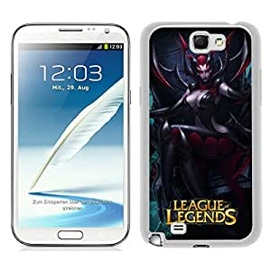 Elise The Spider Queen in league of legends White Unique Abstract Custom Samsung Galaxy Note 2 N7100 Case