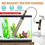 hygger Bucket-Free Aquarium Water Change Kit Fish