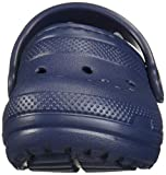 Crocs Kids' Classic Lined Clog, navy/charcoal, 8 M