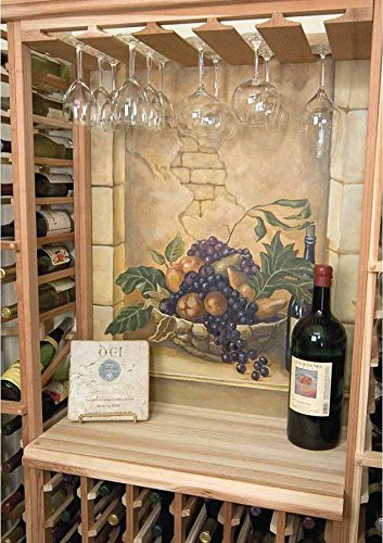 Designer Table Top Below Glass Rack (Prime Mahogany - Light Stain) by Wine Cellar Innovations (Image #2)