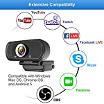 Hrayzan Webcam 1080P compatible with youtube, twitch, skype