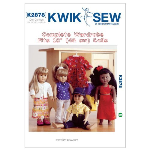 Kwik Sew K2878 Doll Clothes Sewing Pattern, Size Fits 18-Inch Dolls by KWIK-SEW PATTERNS by KWIK-SEW PATTERNS