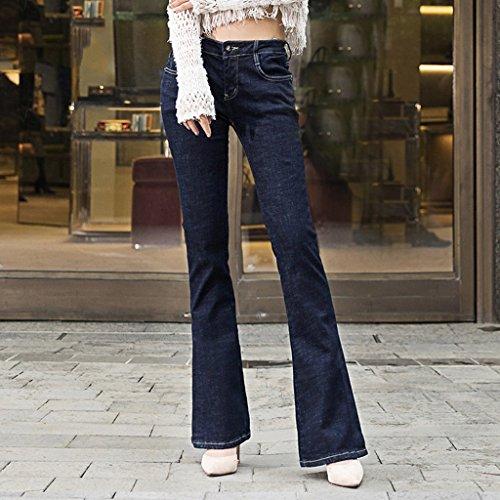 I Europa E Taglia Nuovi 30 Pantalone Retro Forcella Autunno Jeans Centrale Vita Slim Primavera Laterale Grande Cut Size Elasticità Boot dqBWAqf