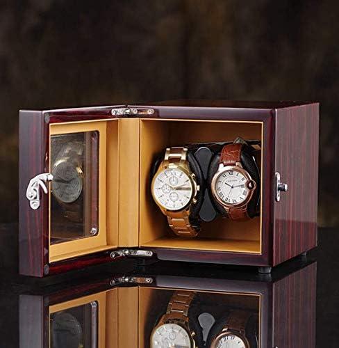 上げ機 ボックスを巻2腕時計自動ウォッチワインダーの静かなモーター5の回転モード時計収納ディスプレイケースPUレザー 腕時計ワインディングマシーン