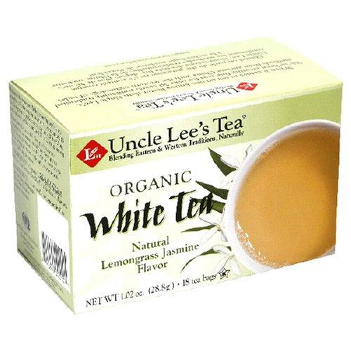 Lemongrass Jasmine White Tea - Uncle Lee's Tea, Organic White Tea with Lemon Grass and Jasmine, 18-Count (Pack of 6)