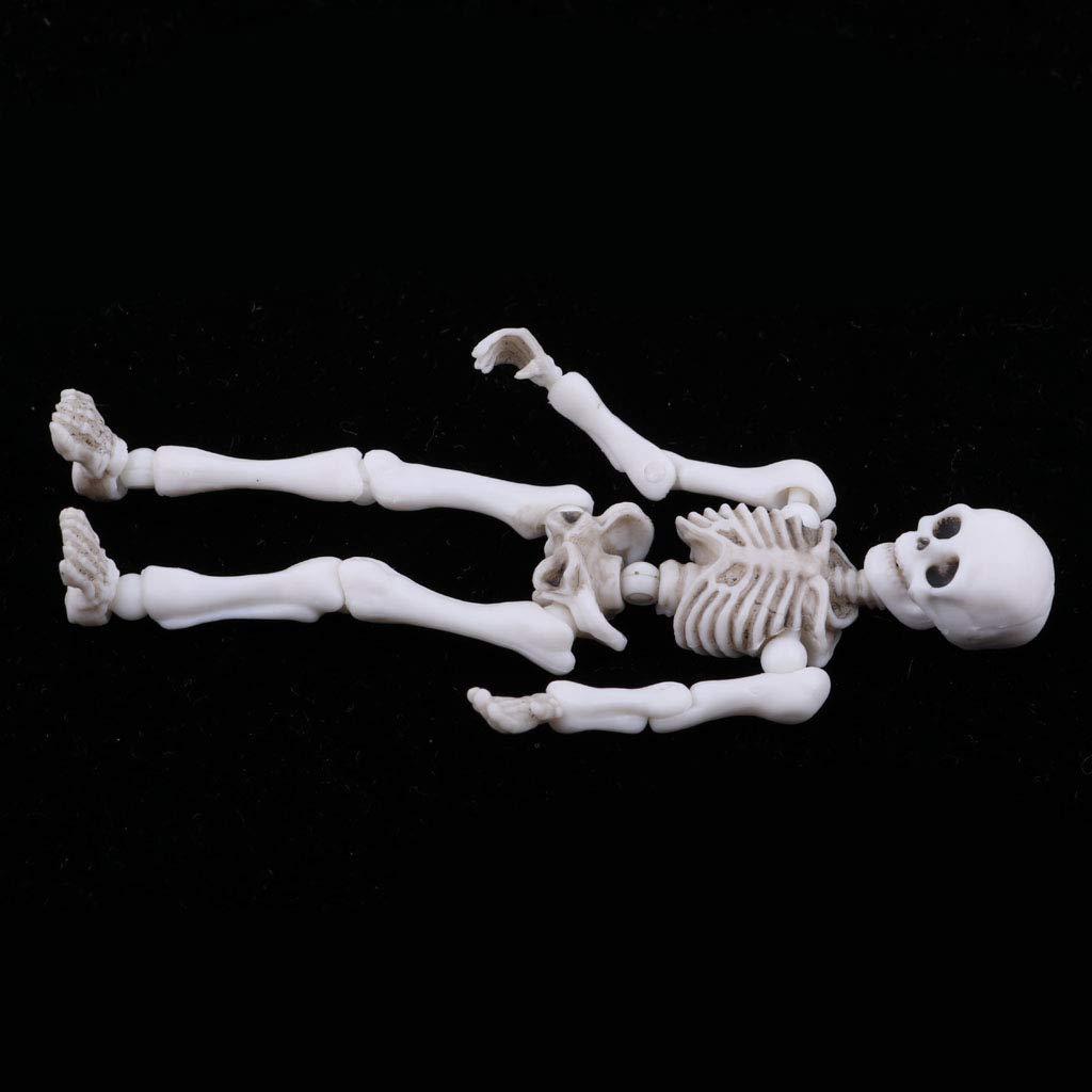 Miniature 8.7cm Skeleton Action Figures Doll Model Party Favors Trick Toy
