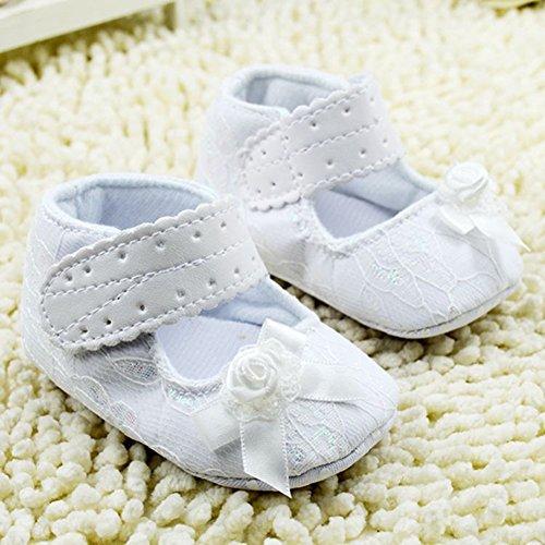 Weixinbuy Newborn Baby Girls Princess Bow Mary Jane Crib Shoes S